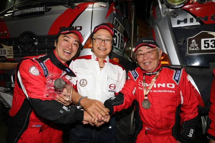 Hino Team Sugawara Cross Finish Line Taking Top Two Positions in Class