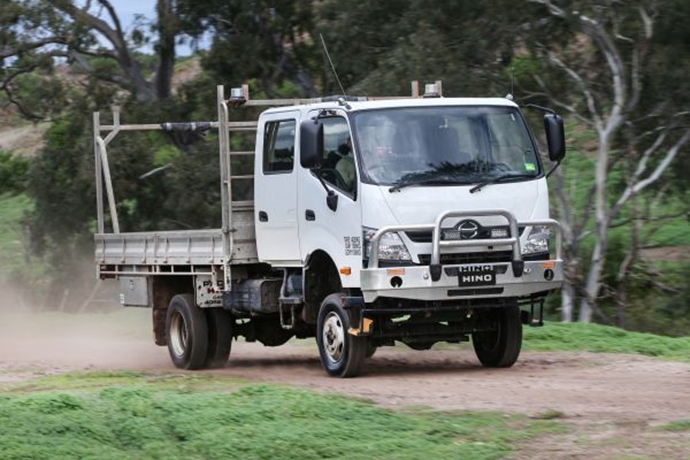 Hino Hybrid Truck Reviews >> Hino reveals 300 series 4x4 and showcases business evolution at truck show