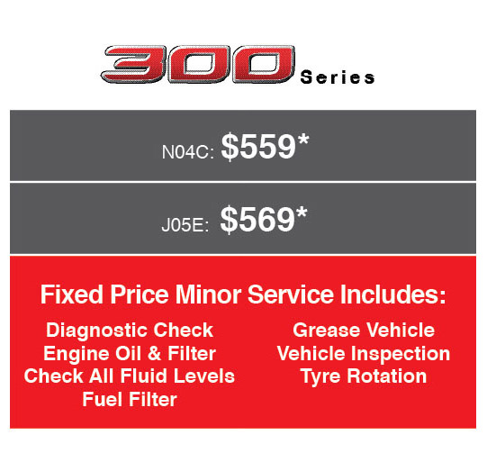 Fixed Price Servicing on 300 Series Hino
