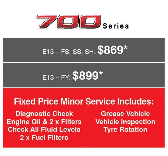 Fixed Price Servicing on 700 Series Hino