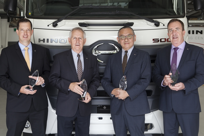 Service Award completes seventh consecutive double crown for Hino Australia