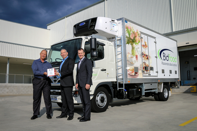 Bidfood behind the wheel of 125,000th Hino